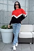 Модный свободный женский свитер юр-1016-1, фото 1