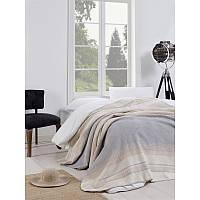 Плед покрывало хлопковое Eponj Home - Cizgili 180*220 серый