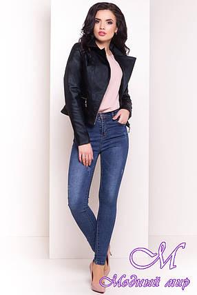 Стильная женская осенняя куртка (р. S, M, L) арт. Байкер 4669 - 34085, фото 2