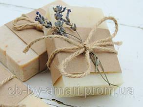 Мыло (с нуля) лавандовое с маслом льна, г 100
