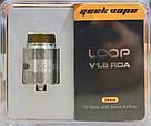Дрипка GeekVape Loop V 1.5 RDA Silver Оригинал., фото 5