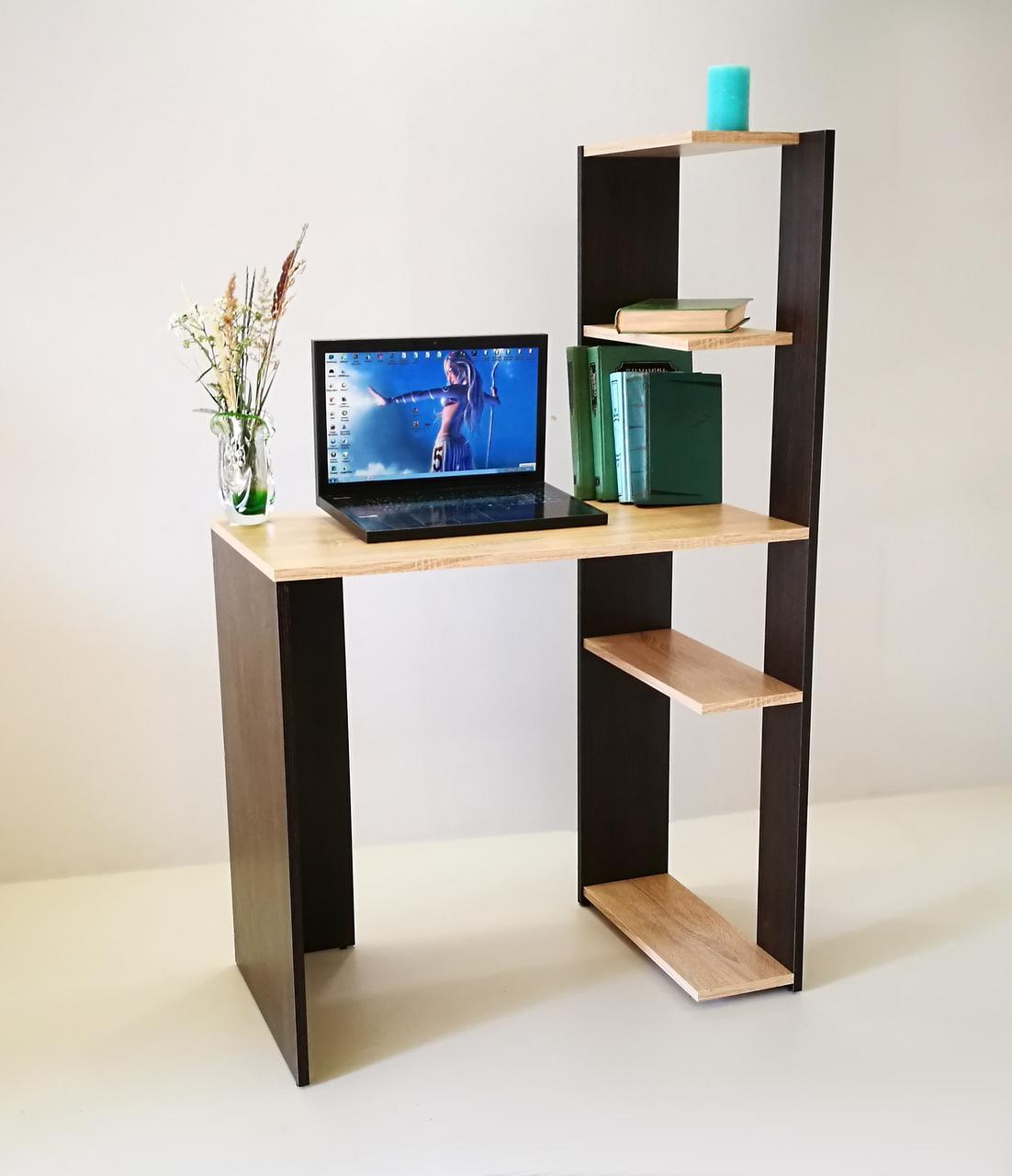 Стол компьютерный СК-6 (сонома + венге)