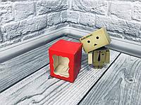 *10 шт* / Коробка / Бонбоньерка / 60х60х75 мм / печать-Красн / окно-обычн, фото 1