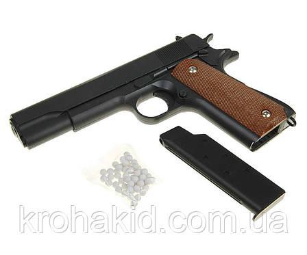 Детский Игрушечный пистолет с пульками  G.13 (метал+пластик), фото 2