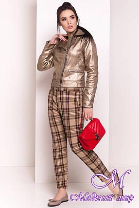 Женская демисезонная куртка (р. S, M, L) арт. Байкер 4669 - 34559, фото 2