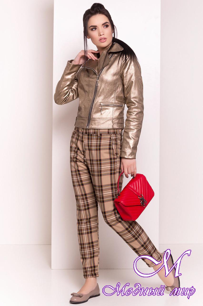 Женская демисезонная куртка (р. S, M, L) арт. Байкер 4669 - 34559