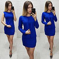 Платье с жакетом / накидкой, арт.173, цвет - электрик / ярко синий