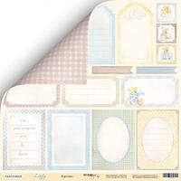 Карточки для декора Scrapmir Little Bear (рос), 30х30см