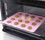 Силиконовый антипригарный коврик для выпечки и раскатки теста 50x40 см 2Life Розовый (n-326), фото 5