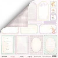 Карточки для декора Scrapmir Little Bunny (рус), 30х30см