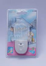 Ночной светодиодный мультиколор мини светильник Feron F1104 (Домик)
