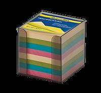 Бокс с цветной бумагой Buromax 90 х 90 х 90 мм 1000 листов дымчатый