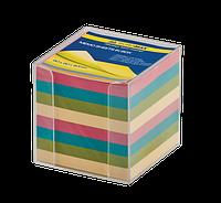 Бокс с цветной бумагой Buromax 90 х 90 х 90 мм 1000 листов прозрачный