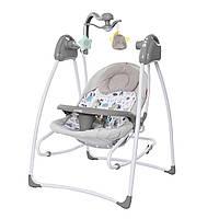 Кресло-качалка 3 в 1 серая, питание от сети и батареек CARRELLO Grazia CRL-7502 Lovely Grey
