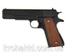Детский игрушечный пистолет для стайкбола с пульками и кобурой  G.13+  (Colt M1911 Classic), фото 3