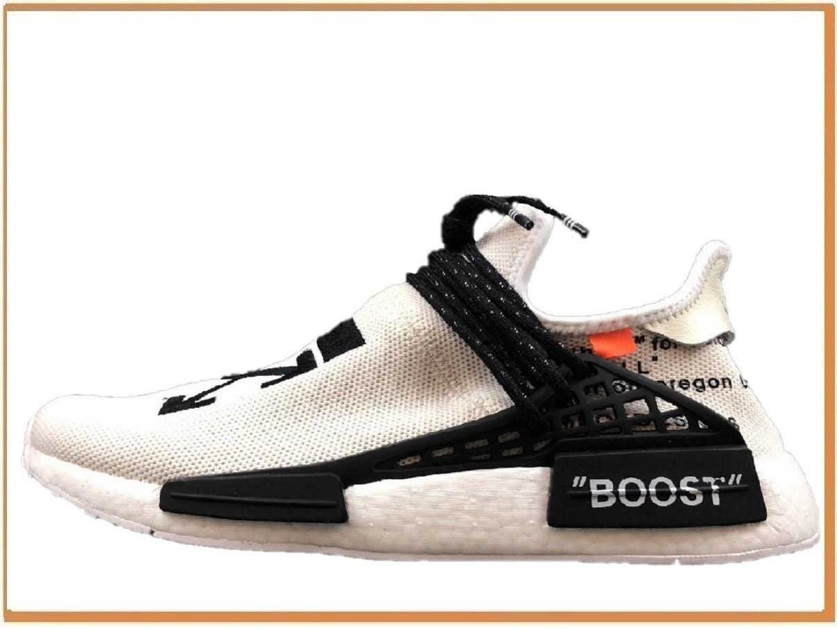 info for 1dadd feb83 Мужские кроссовки Off-White x Adidas Nmd Hu Pharrell Human Race White  (адидас нмд офф вайт, белые) дышащие