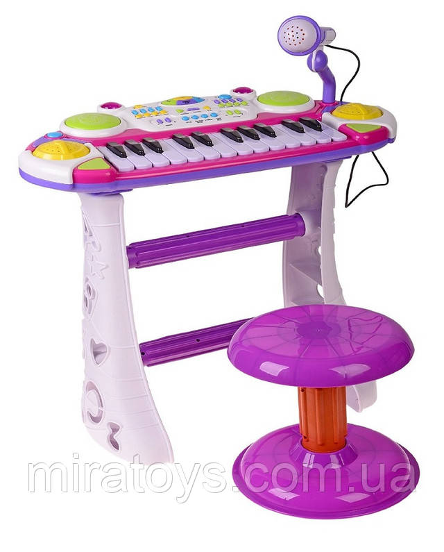 Детское пианино-синтезатор 7235 розовое купить