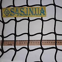 Спортивная сетка безузловая испанская, нейлон, D - 6 мм, ячейка - 7 см, для залов и стадионов, чёрная, фото 1