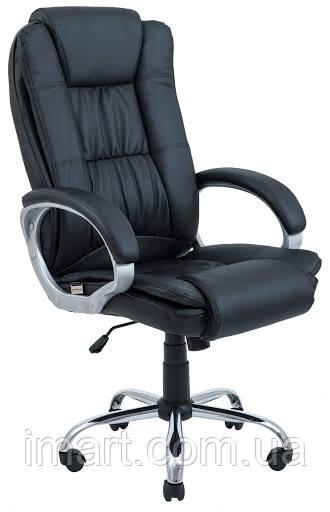 Кресло Калифорния Хром Кожзам Черный