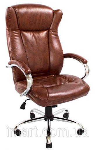 Кресло Сенатор Хром М-2 Кожзам Коричневый