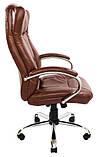 Кресло Сенатор Хром М-2 Кожзам Коричневый, фото 2