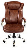 Кресло Сенатор Хром М-2 Кожзам Коричневый, фото 3