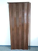 Дверь складная гармошка 7036 дуб темный 880*2030*10 мм элит