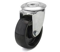 Колеса из фенольной смолы диаметр 80 мм с поворотным кронштейном с отверстием