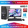 Cовременный  Компьютер для Ученика ZEVS PC UCHENIK U3 GT X4 870K+RX 550 4GB+Монитор 18.5''+Клавиатура+Мышь