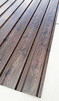 Профнастил  для забора с рисунком деревоВЕНГЕ, размер листа 1,75мХ1,16м, фото 3