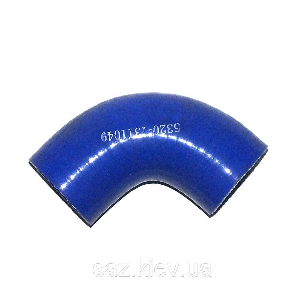 Рукав (патрубок) расшир. бачка силикон синий Ф32х65/65 (ТМ S.I.L.A.), 5320-1311049-01, КамАЗ