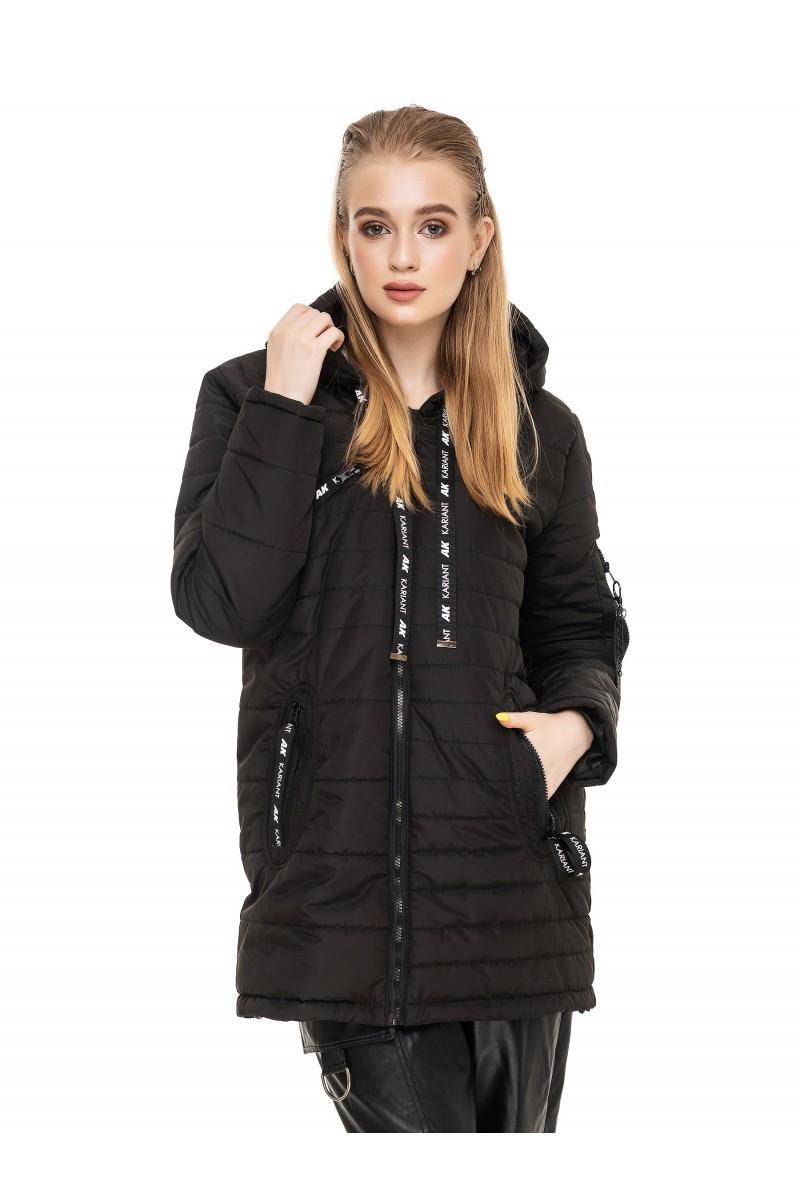 Модная женская  куртка осень-весна Астара черный (44-54)