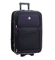 Дорожный чемодан на колесах Bonro Style Черно-темно-фиолетовый Большой