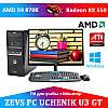 Современный Компьютер для Ученика ZEVS PC UCHENIK U3 GT X4 860K + RX 550 4GB + Монитор 21.5''