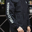Демисезонная куртка мужская черная модель HELLY HANSEN размер M, L, XL, XXL, фото 3