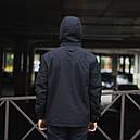 Демисезонная куртка мужская черная модель HELLY HANSEN размер M, L, XL, XXL, фото 2