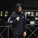 Демисезонная куртка мужская черная модель HELLY HANSEN размер M, L, XL, XXL, фото 4