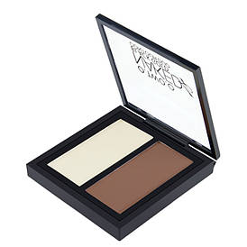 Контурная пудра O.TWO.O Double Color Contour Palette Perfect Naked Shading Powder, 02 Medium Brown, 2.6 г