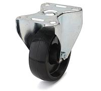 Колеса из фенольной смолы диаметр 80 мм с неповоротным кронштейном