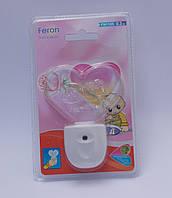 Ночной светодиодный красного света мини светильник Feron F1105 (Сердечко)