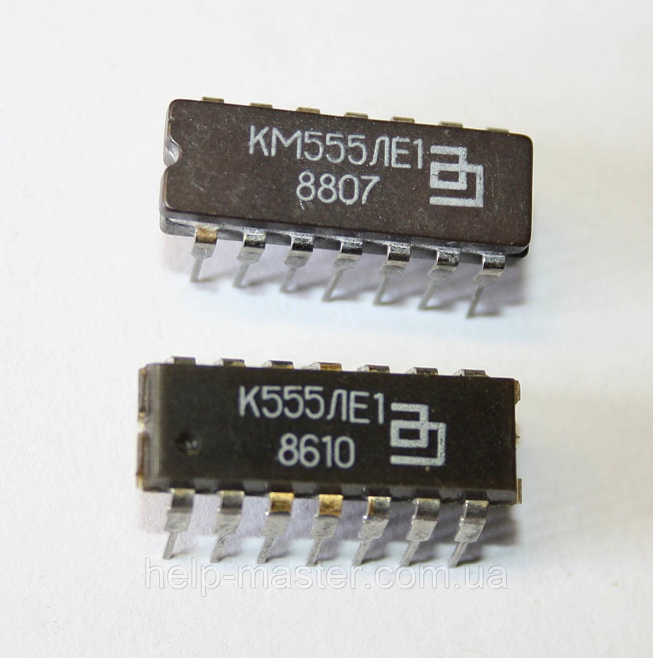 Микросхема К555ЛЕ1 (DIP-14)