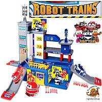 """Игровой гараж паркинг - Роботы Поезда """"Robot Trains"""" локотрейн, робот трейн"""
