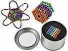 Конструктор-головоломка Neocube Веселка 216 неодимових кульок по 5 мм в боксі магнітний нео куб кольоровий неокуб, фото 3