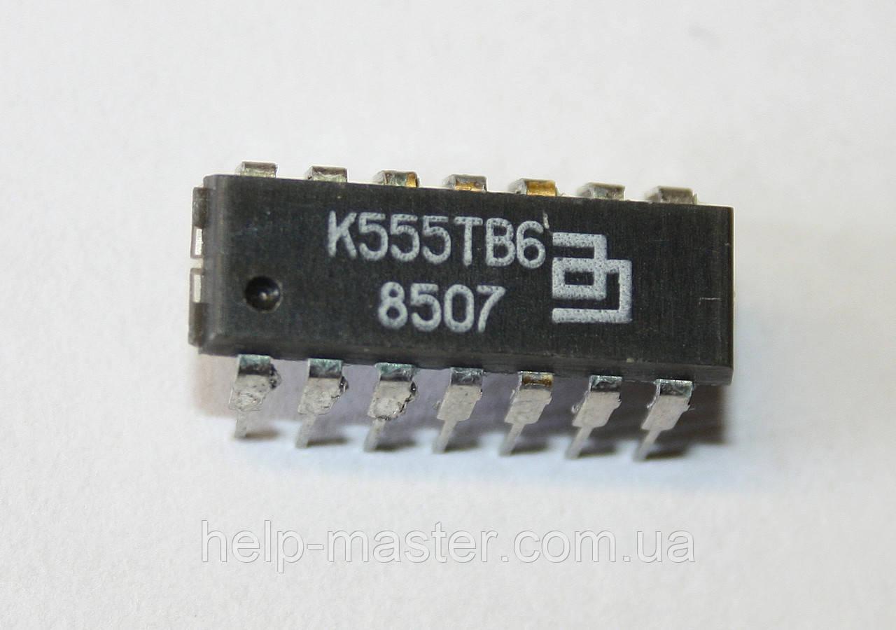 Микросхема К555ТВ6 (DIP-14)