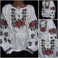 "Национальная вышиванка ""Роксоланка"" для девочки, домотканка, 6-12 лет, 540/440 (цена за 1 шт. + 100 гр.), фото 1"