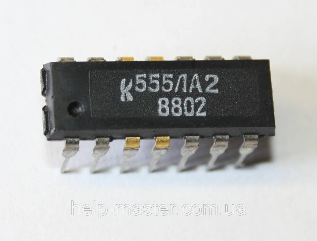 Микросхема К555ЛА2 (DIP-14)