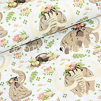 Хлопковая ткань Мамонты, фото 1