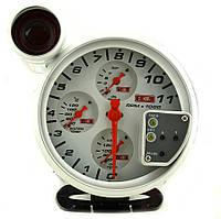 Прибор указатель тахометр + температуры воды / масла + давления масла стрелочный 7785 диодный Ø120мм прибор датчик автомобильный