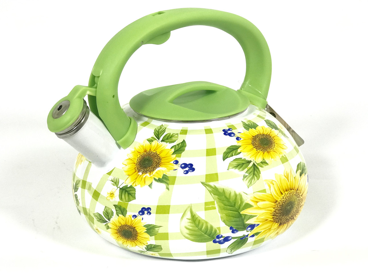 Эмалированный чайник со свистком Hoffner 4933 Сhamomile field 3,3 литра