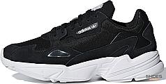 Женские кроссовки Adidas Falcon Core Black Cloud White B28129, Адидас Фалкон